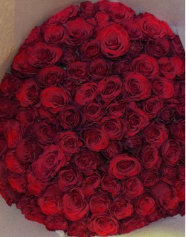 Red roses 40cm
