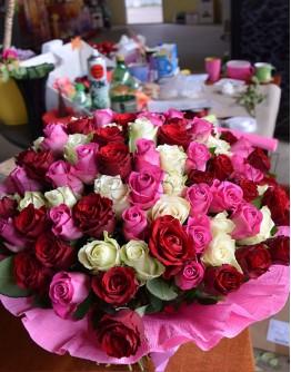Mix roses 40cm