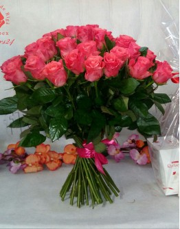 Light pink roses 50cm