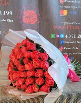 Pink roses 60cm Special (51)