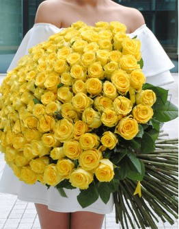 Yellow roses 60cm