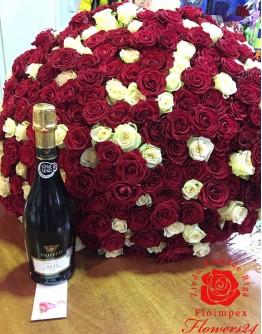 Mix roses 70cm