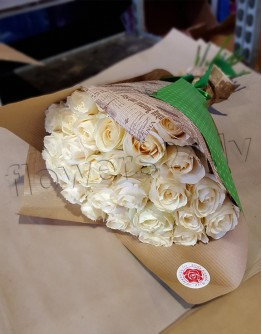 White roses 60cm