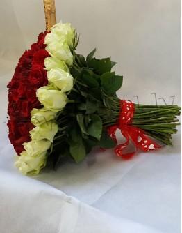 "101 rose 40cm ""Heartshape"""