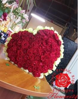 "101 rose 60cm ""Heartshape"""