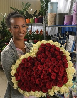"101 rose 70cm ""Heartshape"""