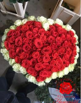 "101 rose 80cm ""Heartshape"""