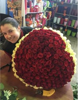 "201 rose 80cm ""Heartshape"""