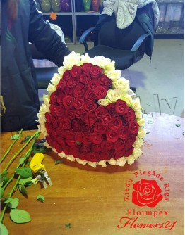 "51 rose 60cm ""Heartshape"""
