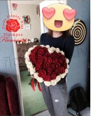 "51 rose 70cm ""Heartshape"""